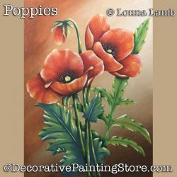 Poppies DOWNLOAD Painting Pattern - Lonna Lamb