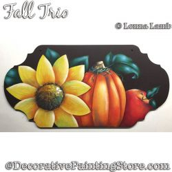 Fall Trio DOWNLOAD Painting Pattern - Lonna Lamb
