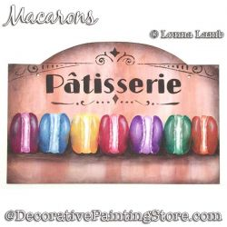 Macarons Sign DOWNLOAD Painting Pattern - Lonna Lamb