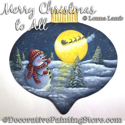 Merry Christmas To All DOWNLOAD Painting Pattern - Lonna Lamb