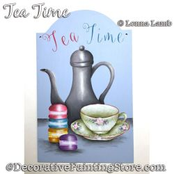 Tea Time DOWNLOAD Painting Pattern - Lonna Lamb