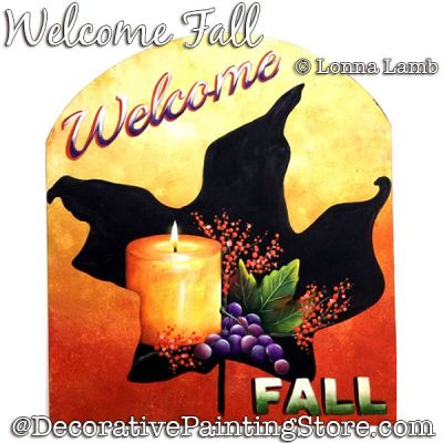 Welcome Fall DOWNLOAD Painting Pattern - Lonna Lamb
