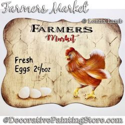 Farmers Market (Chicken and Eggs) DOWNLOAD Painting Pattern - Lonna Lamb
