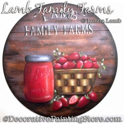 Lamb Family Farm (Strawberry and Jam) DOWNLOAD Painting Pattern - Lonna Lamb
