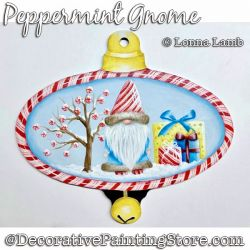 Peppermint Gnome Ornament DOWNLOAD Painting Pattern - Lonna Lamb