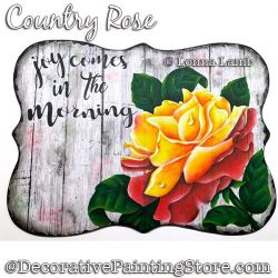 Country Rose DOWNLOAD Painting Pattern - Lonna Lamb