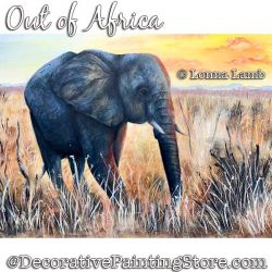Out of Africa (Elephant) DOWNLOAD Painting Pattern - Lonna Lamb