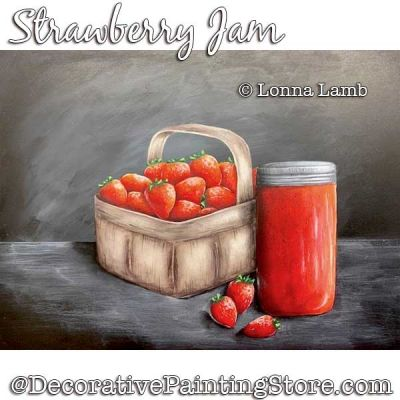 Strawberry Jam DOWNLOAD Painting Pattern - Lonna Lamb