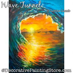 Wave Tunnel DOWNLOAD Painting Pattern - Lonna Lamb