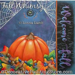 Fall Whimsy DOWNLOAD Painting Pattern - Lonna Lamb