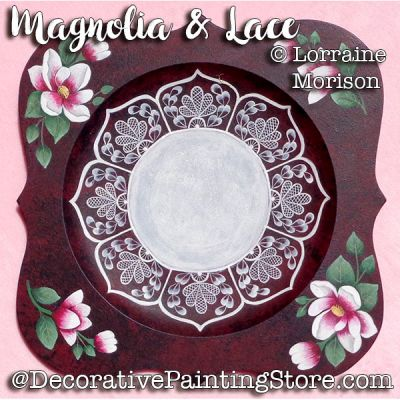 Magnolia and Lace Plate Pattern - Lorraine Morison - PDF DOWNLOAD