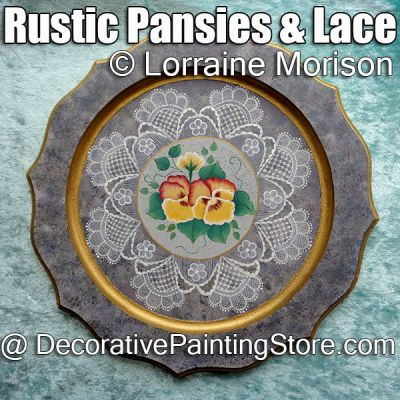 Rustic Pansies ePattern - Lorraine Morison - PDF DOWNLOAD