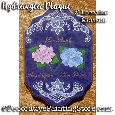 Hydrangea Plaque Pattern - Lorraine Morison - PDF DOWNLOAD