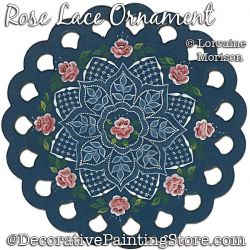 Rose Lace Ornament Painting Pattern PDF DOWNLOAD - Lorraine Morison