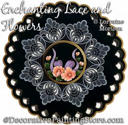 Enchanting Lace and Flowers Painting Pattern PDF DOWNLOAD - Lorraine Morison