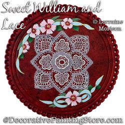Sweet William and Lace Painting Pattern PDF DOWNLOAD - Lorraine Morison