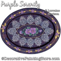 Purple Serenity Painting Pattern PDF DOWNLOAD - Lorraine Morison