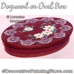 Dogwood on Oval Box Painting Pattern PDF DOWNLOAD - Lorraine Morison