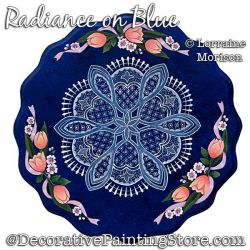 Radiance on Blue Painting Pattern PDF DOWNLOAD - Lorraine Morison