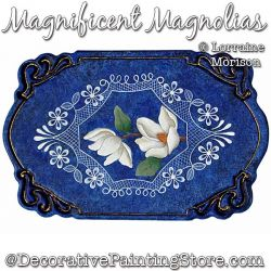 Magnificent Magnolias Painting Pattern PDF DOWNLOAD - Lorraine Morison