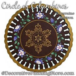 Circle of Columbines Painting Pattern PDF DOWNLOAD - Lorraine Morison