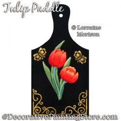Tulip Paddle Painting Pattern PDF DOWNLOAD - Lorraine Morison
