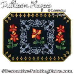 Trillium Plaque Painting Pattern PDF DOWNLOAD - Lorraine Morison