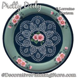 Pretty Doily Painting Pattern PDF DOWNLOAD - Lorraine Morison