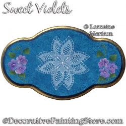 Sweet Violets Painting Pattern PDF DOWNLOAD - Lorraine Morison