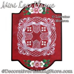 Mini Lace Plaque Painting Pattern PDF DOWNLOAD - Lorraine Morison