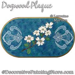 Dogwood Plaque Painting Pattern PDF DOWNLOAD - Lorraine Morison