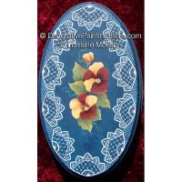 Oval Pansy Box Pattern - Lorraine Morison - PDF DOWNLOAD
