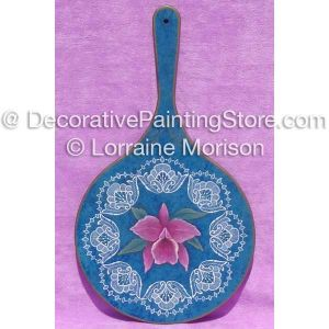 Orchid Paddle and Lace ePattern - Lorraine Morison - PDF DOWNLOAD