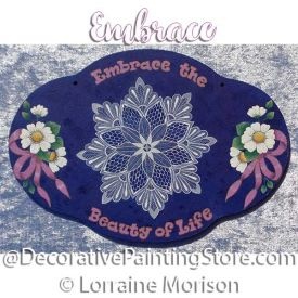 Embrace Plaque Pattern - Lorraine Morison - PDF DOWNLOAD