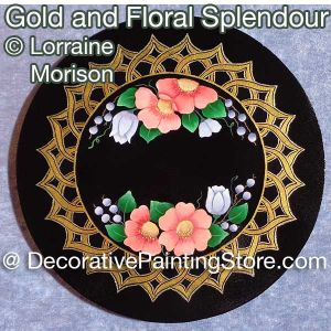 Gold and Floral Splendour Pattern - Lorraine Morison - PDF DOWNLOAD