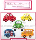 Wheeling Around Ornaments ePacket by Linda Lover - PDF DOWNLOAD