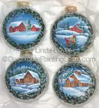 Winter on Glass Ornaments Pattern PDF DOWNLOAD