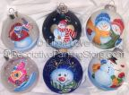 Snowfolk on Glass Ornaments Pattern PDF DOWNLOAD
