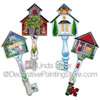 Favorite Places Key Ornaments ePacket by Linda Lover - PDF DOWNLOAD