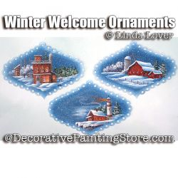 Winter Welcome Ornaments ePacket by Linda Lover - PDF DOWNLOAD