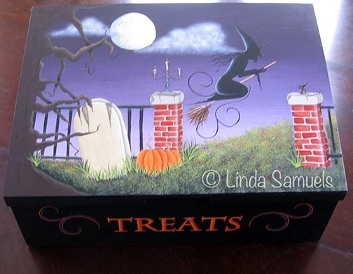Halloween Trick or Treat Box e-Pattern - Linda Samuels - PDF DOWNLOAD
