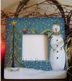 Winter Wonders Photo Frame e-Pattern - Linda Samuels - PDF DOWNLOAD