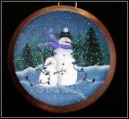 Tangled Snowmen Plaque e-Pattern - Linda Samuels - PDF DOWNLOAD