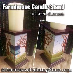 Farmhouse Candle Stand - Linda Samuels - PDF DOWNLOAD