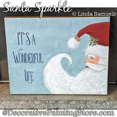 Santa Sparkle Painting Pattern PDF Download - Linda Samuels