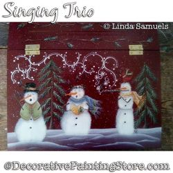 Singing Trio (Snowman) Painting Pattern PDF Download - Linda Samuels