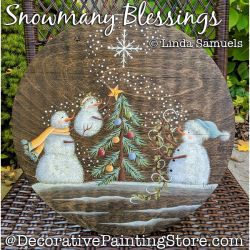 Snowmany Blessings (Snowman) Painting Pattern PDF Download - Linda Samuels