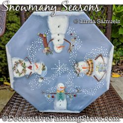 Snowmany Seasons (Snowman) Painting Pattern PDF Download - Linda Samuels