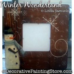 Winter Wonderland Frame (Snowman) Painting Pattern PDF Download - Linda Samuels