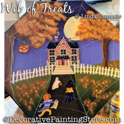 Web of Treats (Halloween) Painting Pattern PDF Download - Linda Samuels